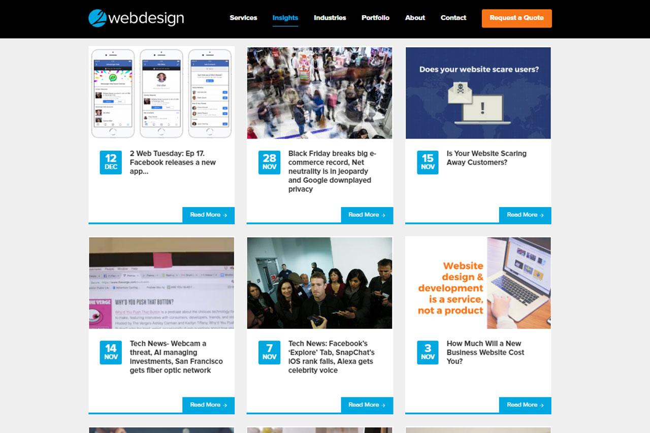 2 Web Design   Nov. 24, 2014 – Jan. 2, 2018