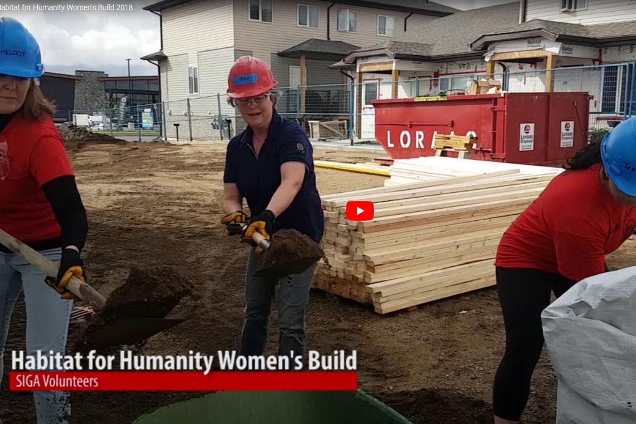 SIGA supports Habitat for Humanity Women's Build 2018